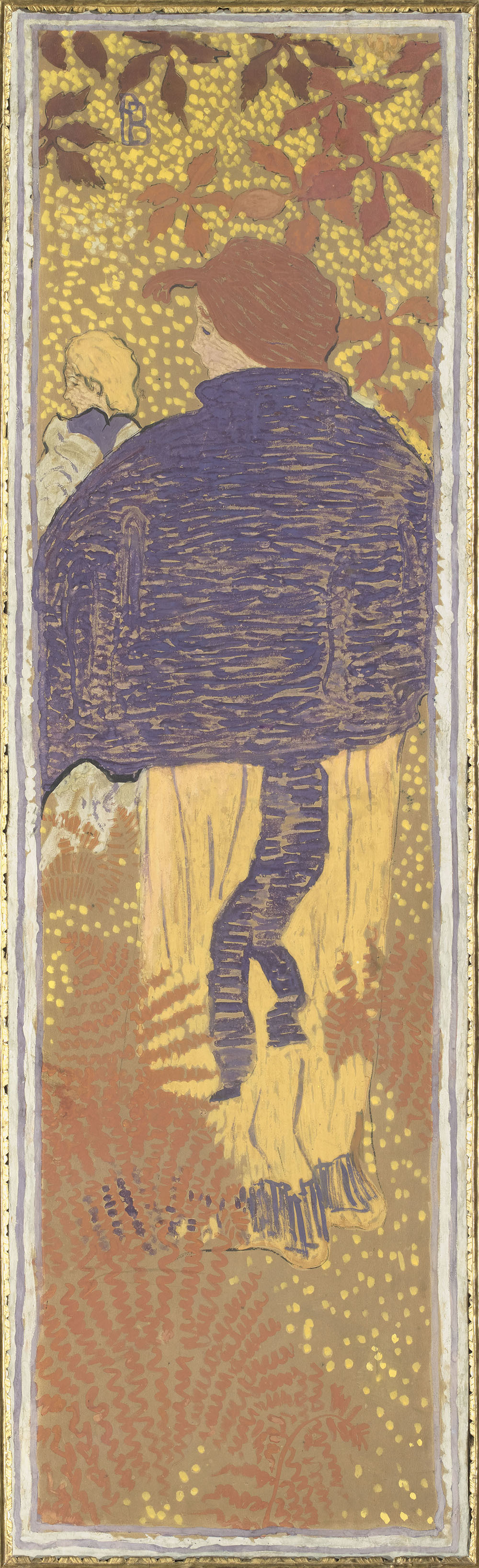 ピエール・ボナール 《庭の女性たち ショルダー・ケープを着た女性》 1890-91年 デトランプ/カンヴァスに貼り付けた紙、装飾パネル © RMN-Grand Palais (musée d'Orsay) / Hervé Lewandowski / distributed by AMF