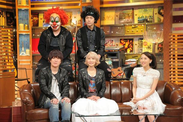 写真左よりSEKAI NO OWARI、一青窈。 (c)テレビ朝日