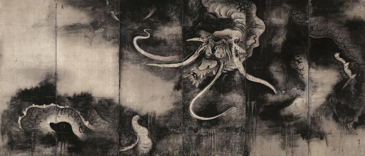 重要文化財 雲龍図屏風 海北友松筆 北野天満宮(京都) 桃山時代 17世紀 通期展示