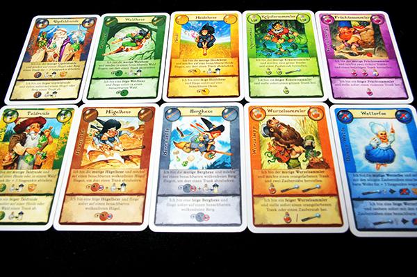 カードは全10種類。全員が同じものを持っています  (c)Dear Spiele