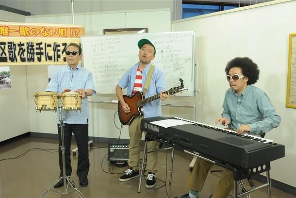 左よりタモリ、マキタスポーツ、レキシ。 (c)テレビ朝日