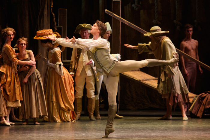 Vadim Muntagirov as Des Grieux in Manon ©ROH  Photographed by Alice Pennefather