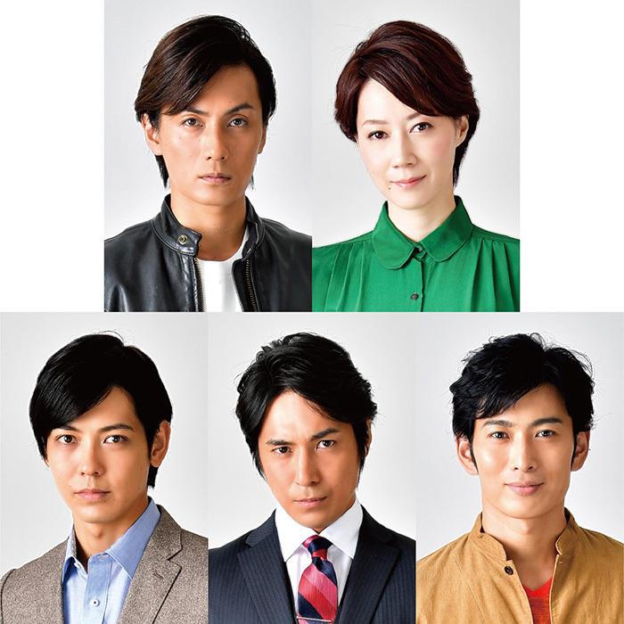 (上段左から)加藤和樹 凰稀かなめ/(下段左から)猪塚健太 高橋光臣 松田悟志