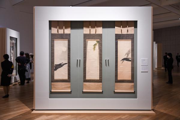 《瀑布、暁鴉、晩鴉》 明治27年(1894)  グレース・ツムギ・ファインアート(イギリス)蔵 ※3月27日から4月25日のみ展示