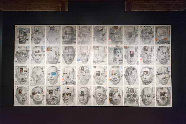 《新聞と自画像》(全364点) 2009年