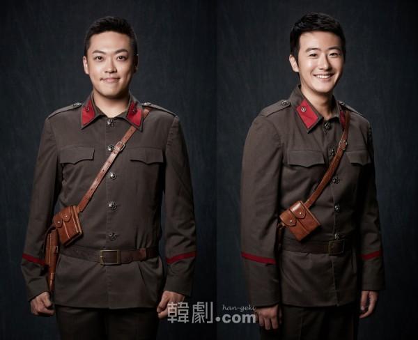 チョン・ウジン役のチョン・スンウォン(左)とチュ・ジンハ