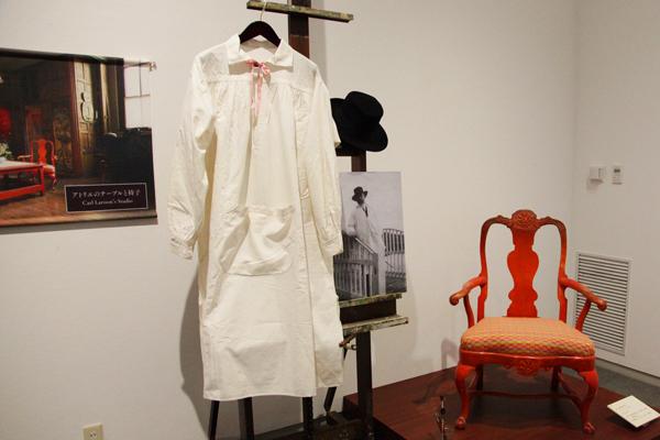 ラーションの使用していた肘掛椅子や洋服