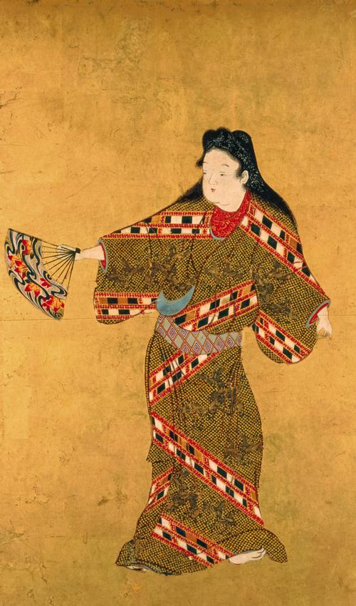 舞踊図 六面のうち一面 江戸時代 17世紀 サントリー美術館