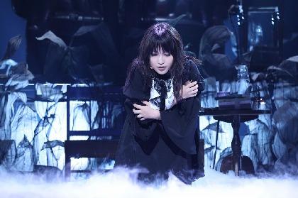 鞘師里保が再びリリーを演じる、末満健一によるShared TRUMP シリーズ 音楽朗読劇『黑世界』が開幕 舞台写真が到着