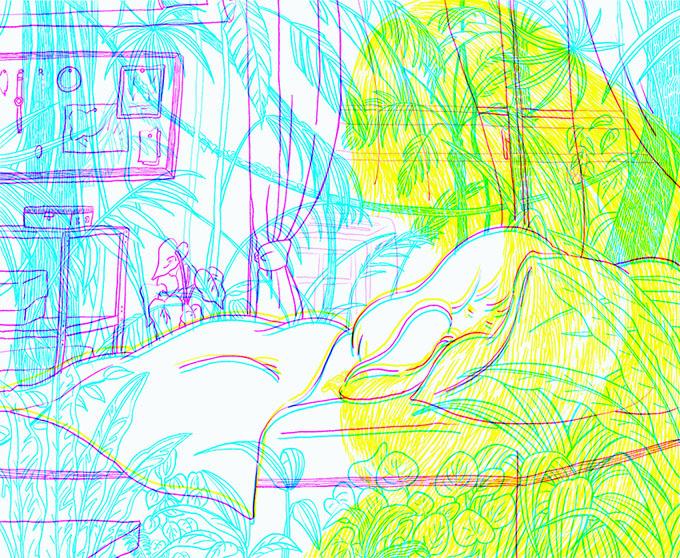 藤井マリー「web drawing series_生きる細胞」