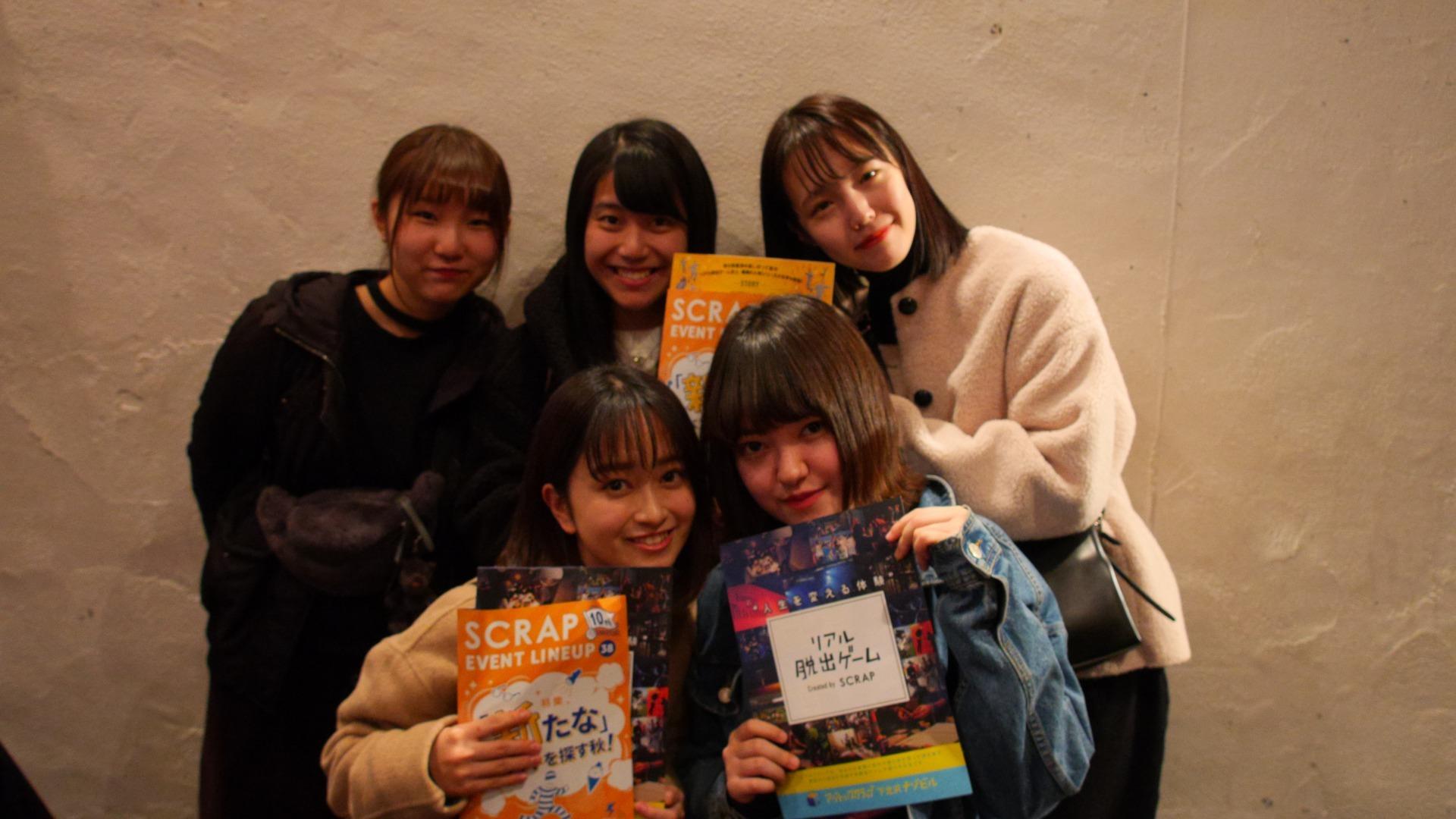 ▲今回、最終兵器工場からの脱出を体験してくれた女子高生5人