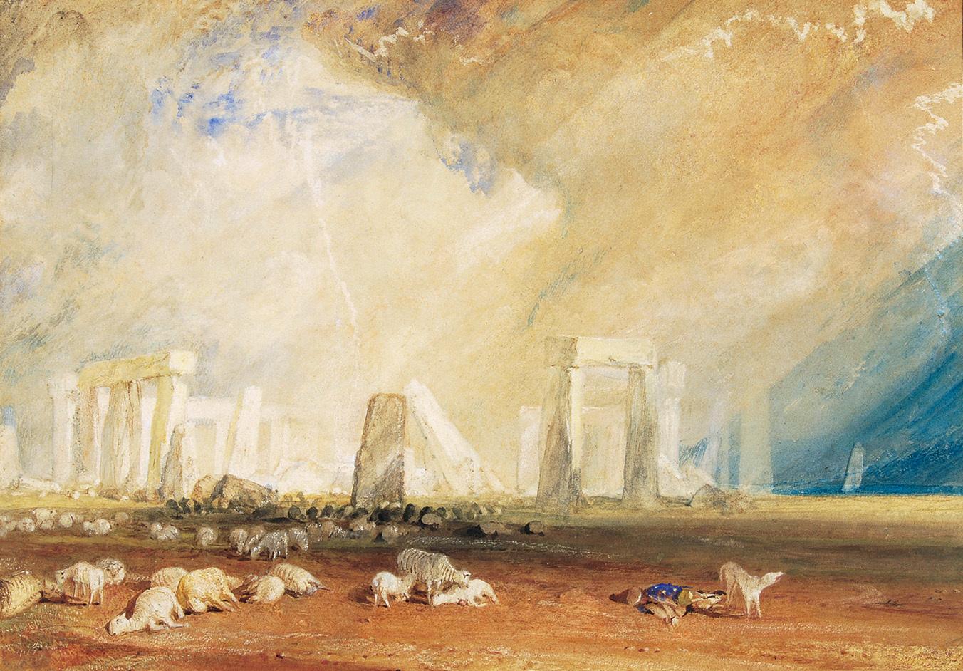 《ストーンヘンジ、ウィルトシャー》 1827-1828年 水彩・紙 27.9×40.4cm ソールズベリー博物館 On loan from The Salisbury Museum, England