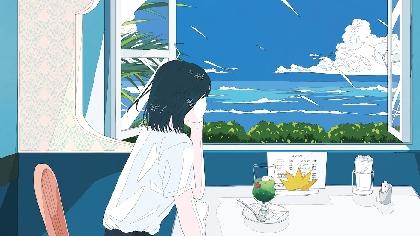 吉岡聖恵、初のコラボとなるイラストレーター・かとうれい描きおろし「夏色のおもいで」ポストカード絵柄を公開