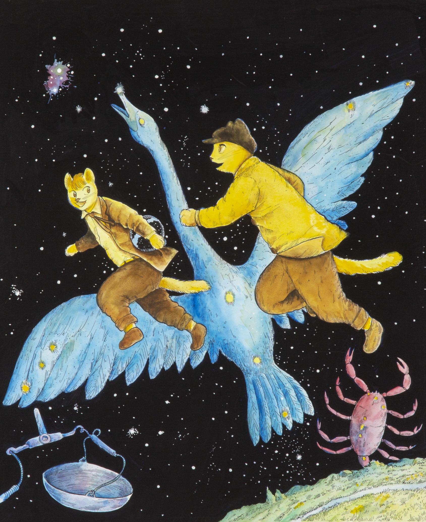 ますむらひろし《銀河鉄道の夜》1983年発表 (C)ますむら・ひろし
