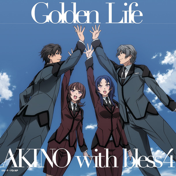 AKINO with bless4「Golden Life / OVERNIGHT REVOLUTION」ジャケット