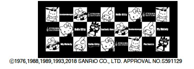 サンリオキャラクターズSUMMER タオルcollaborated by OTODAMA SEA STUDIO (C)1976,1988,1989,1993,2018 SANRIO CO., LTD. APPROVAL NO.S591129