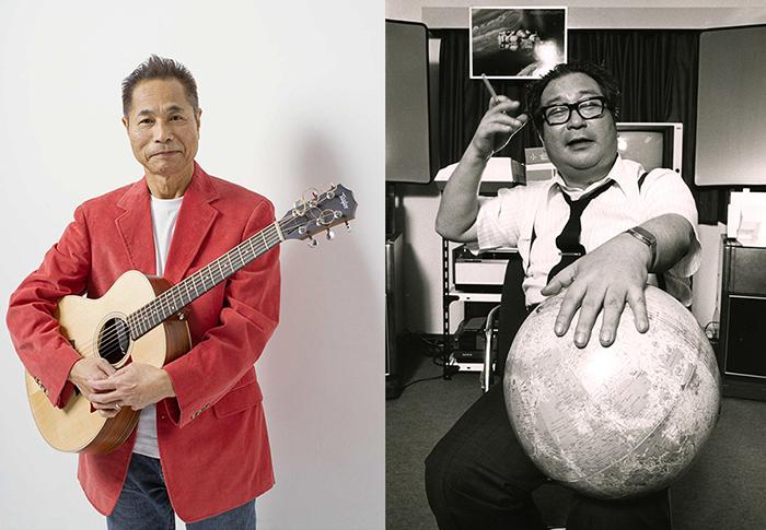(左)杉田二郎 (右)小松左京