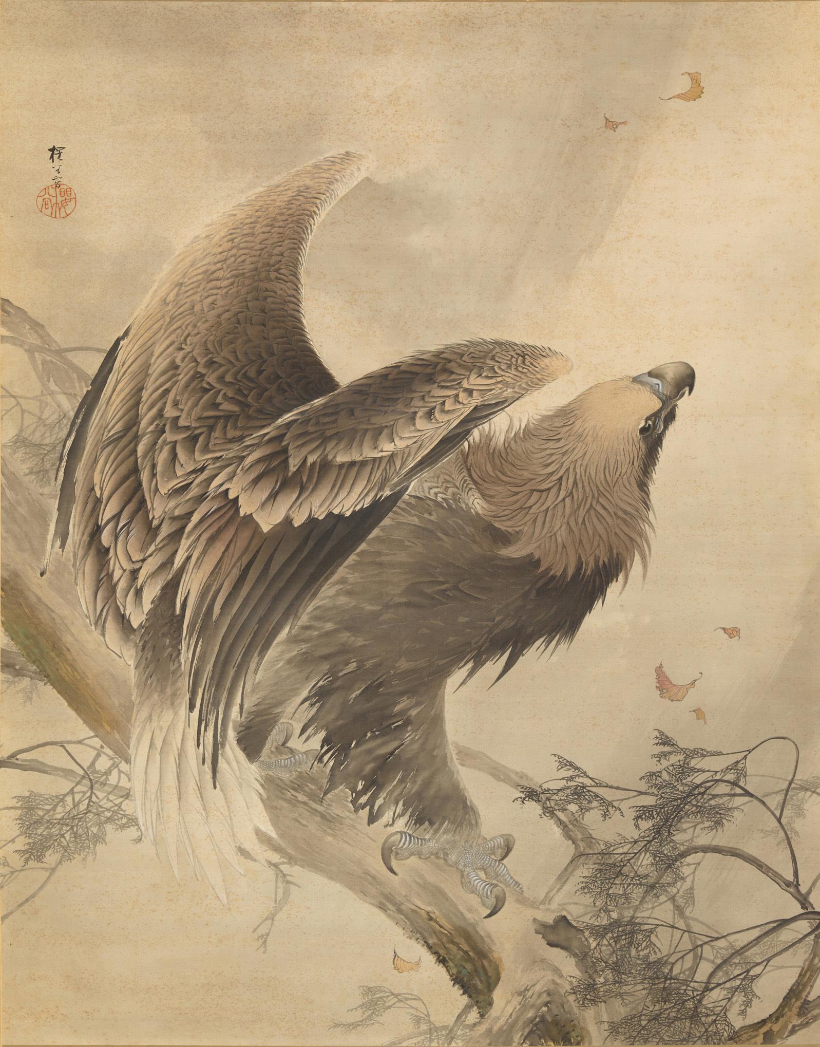 《猛鷲図》明治36年(1903) 株式会社千總蔵
