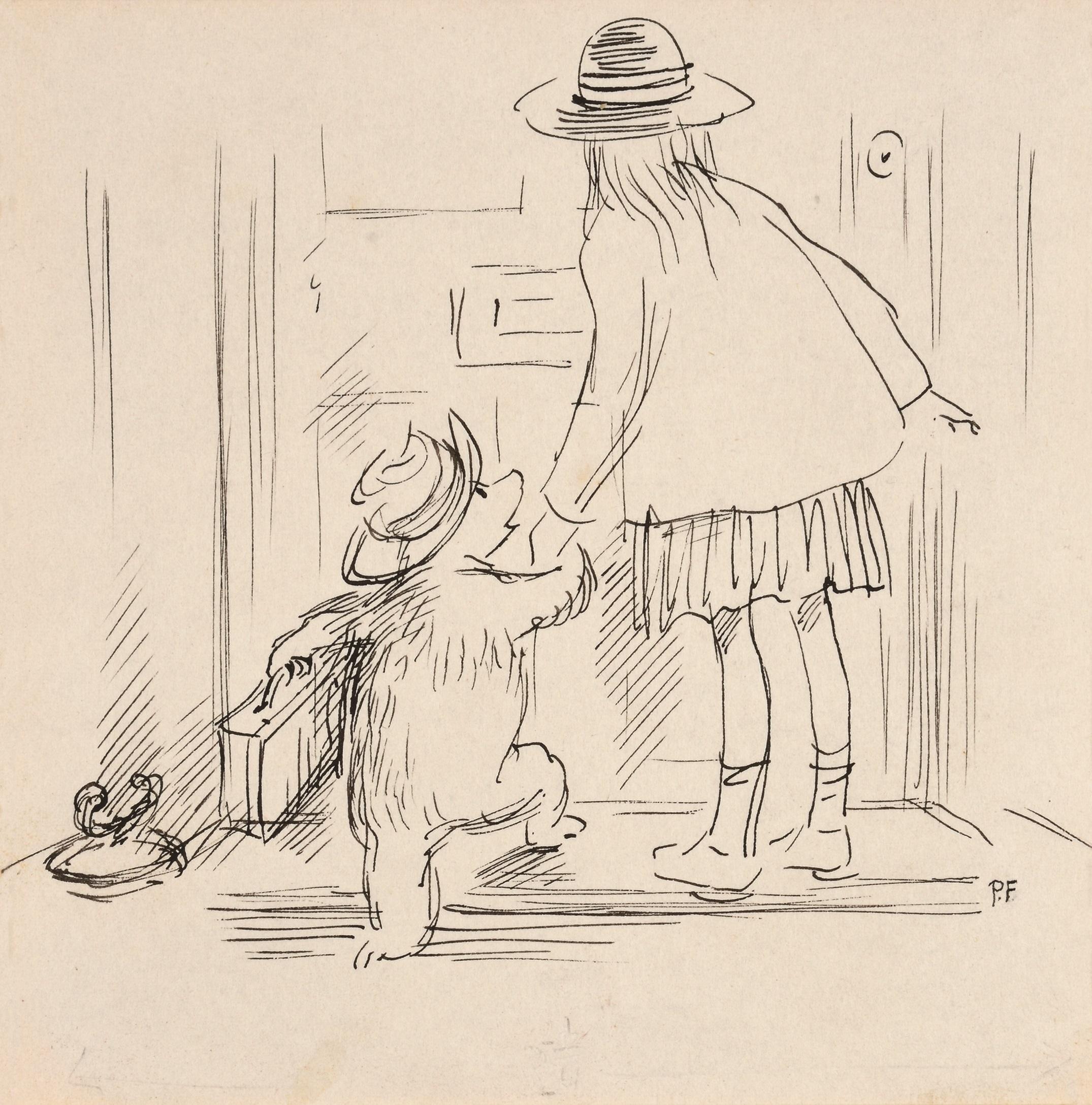 ペギー・フォートナム画 『くまのパディントン』の挿絵原画、1958 年  Illustrated by Peggy Fortnum (C) Paddington and Company Ltd 2018
