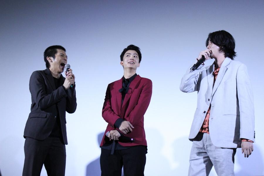 (左から)山田裕貴、健太郎、栁俊太郎