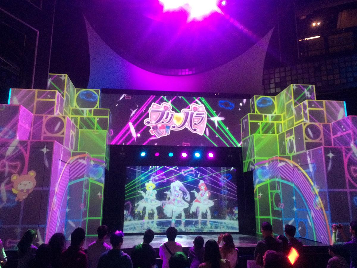 「プリパラ」コラボ時の CG ライブ (c)T-ARTS / syn Sophia / テレビ東京 / PSプロジェクト