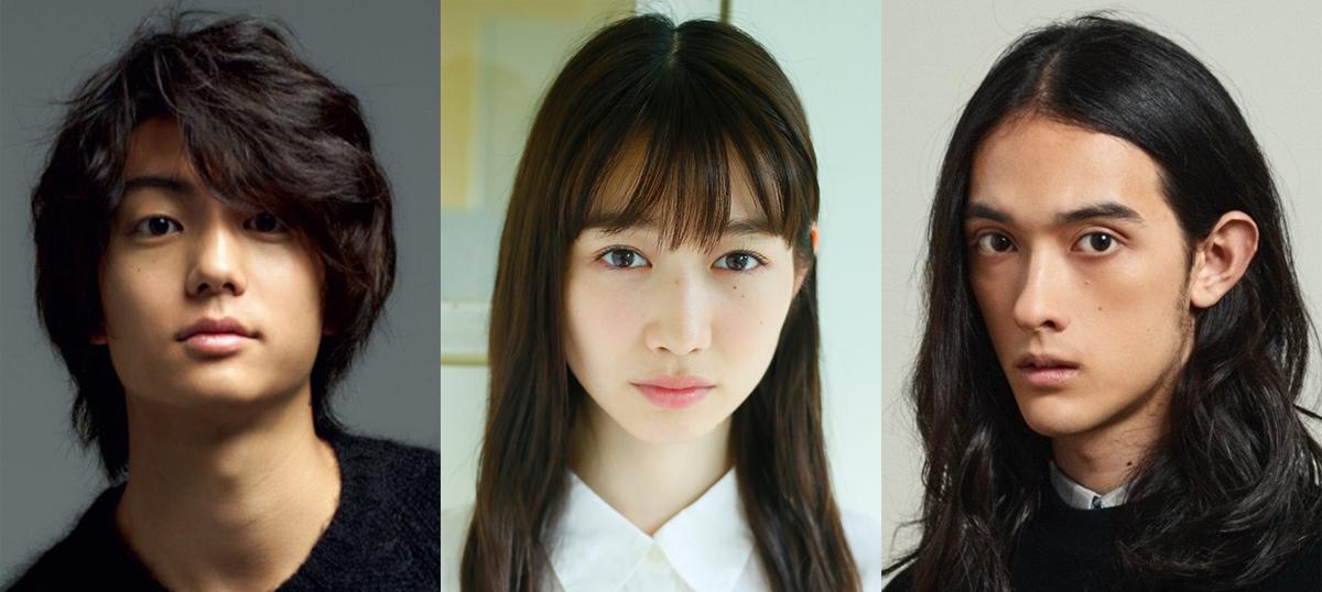 (左から)伊藤健太郎、岡本夏美、栗原類