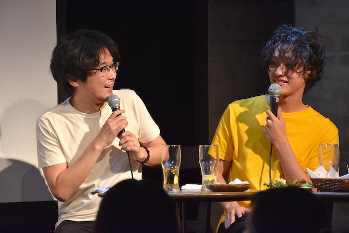 山崎樹範、安西慎太郎(左から)