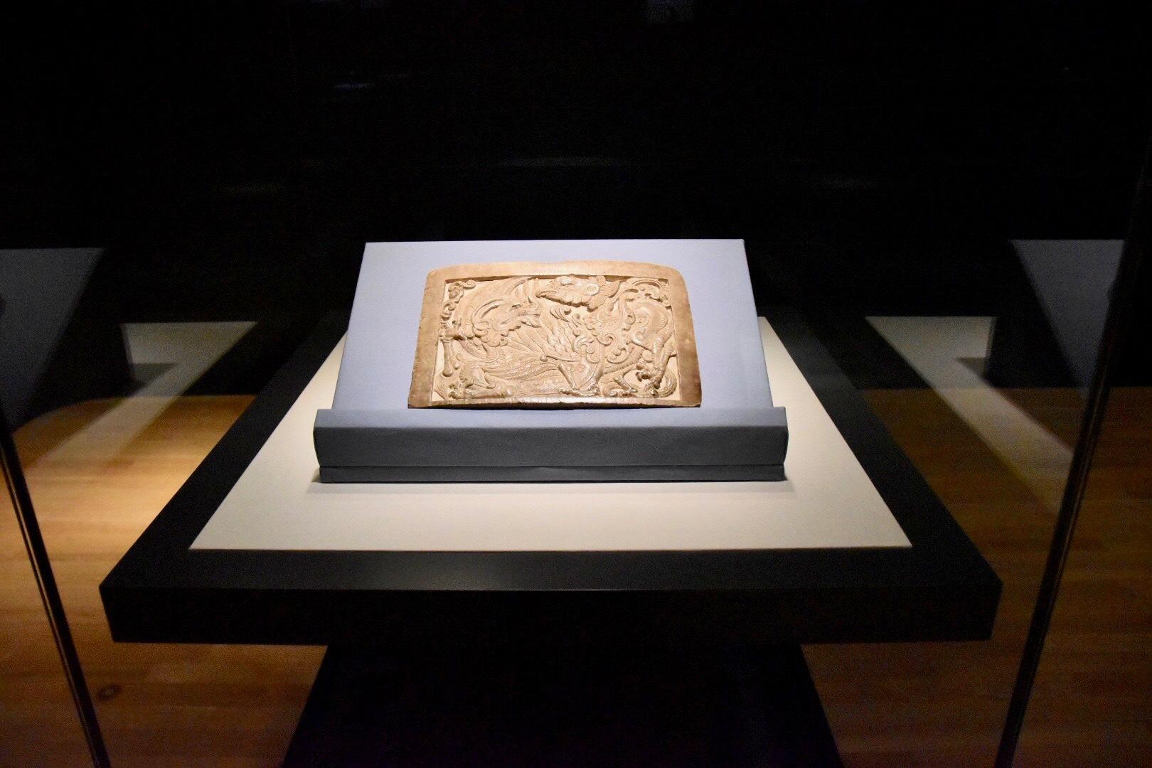 正倉院宝物《白石鎮子 青龍・朱雀》 中国・唐時代 8世紀 正倉院蔵 前期展示