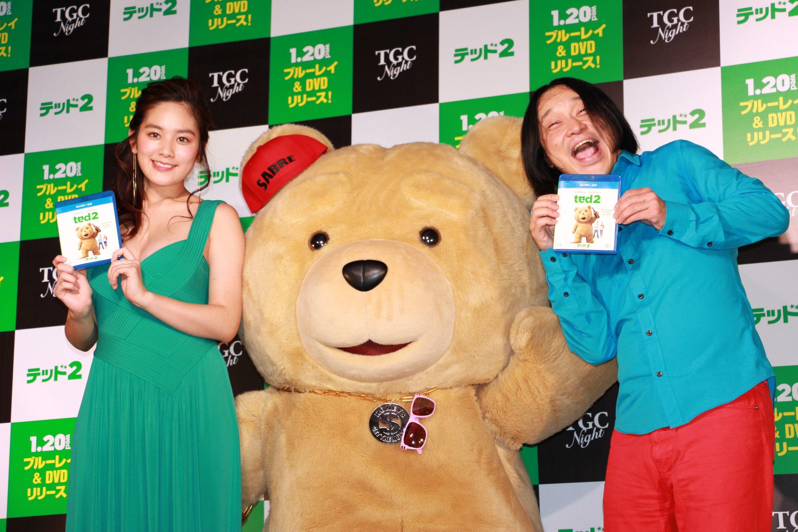 左から 筧美和子、テッド、永野