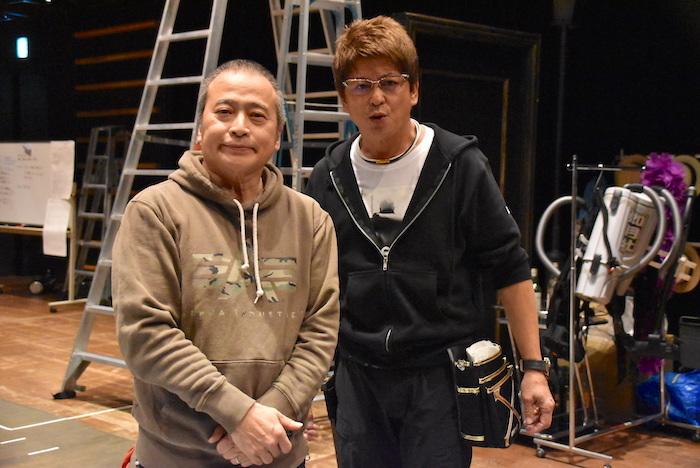 ラサール石井(左)と哀川翔