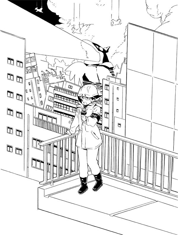 ヨリコ・ギャラリー1 《破壊と復興の反復》 (C) 2018 OPMA All Rights Reserved. Illustration by Yusuke Yoshigaki