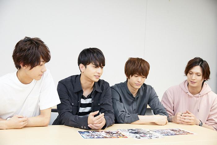 (左から)小坂涼太郎、中村優一、遊馬晃祐、小波津亜廉