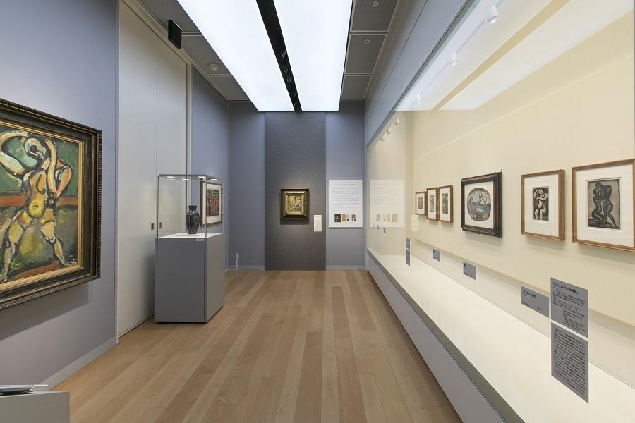 パナソニック汐留ミュージアム ルオーギャラリー。企画展と同じタイミングで展示作品を入れ替えているそう。