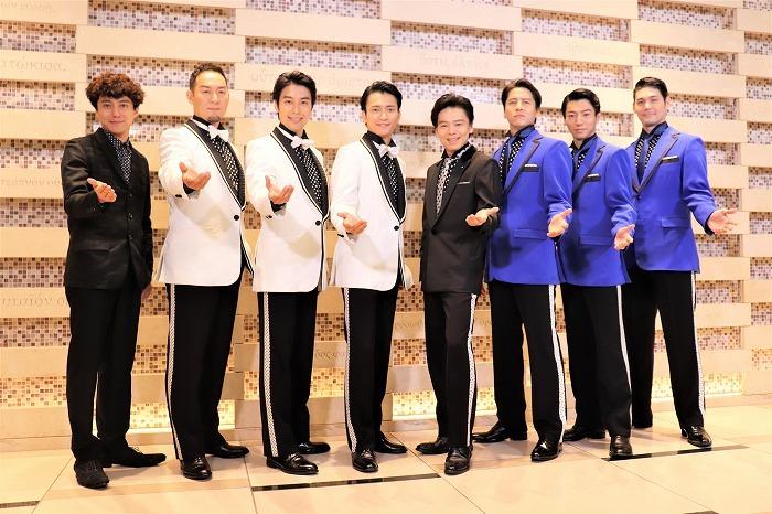 (左から)藤田俊太郎、福井晶一、海宝直人、中河内雅貴、中川晃教、伊礼彼方、矢崎広、spi