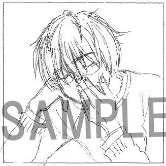 4巻:羽海野チカ氏描き下ろし宗谷名人のオフショットキャンバスイラストカード