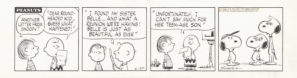 「ピーナッツ」原画 1976年6月29日 (C)Peanuts Worldwide LLC