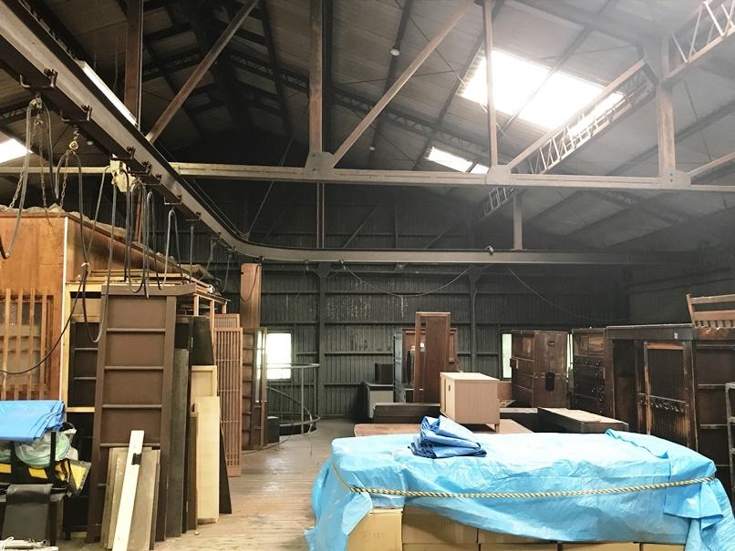 [Theatre E9 Kyoto]予定地倉庫2階部分。ここにはギャラリーと、アーティスト用の宿泊施設の設置を予定している。 [撮影]吉永美和子
