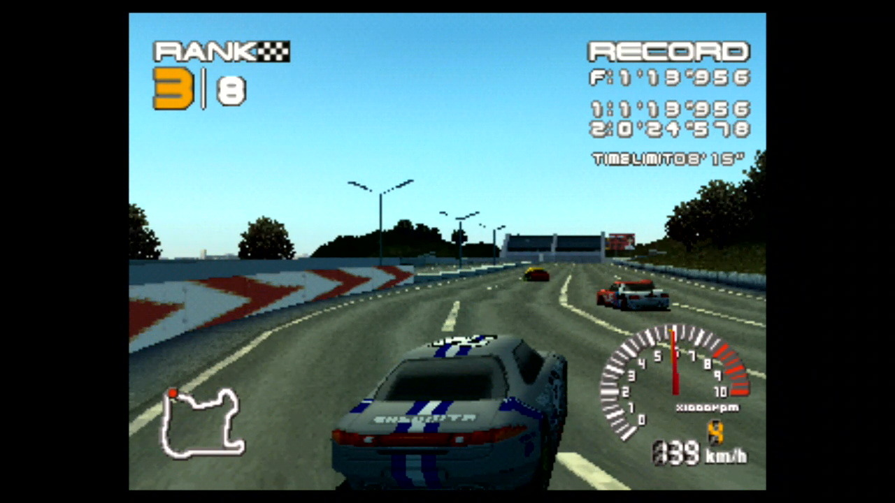 『R4 RIDGE RACER TYPE 4』ゲーム画面 (C)1998 BANDAI NAMCO Entertainment Inc.