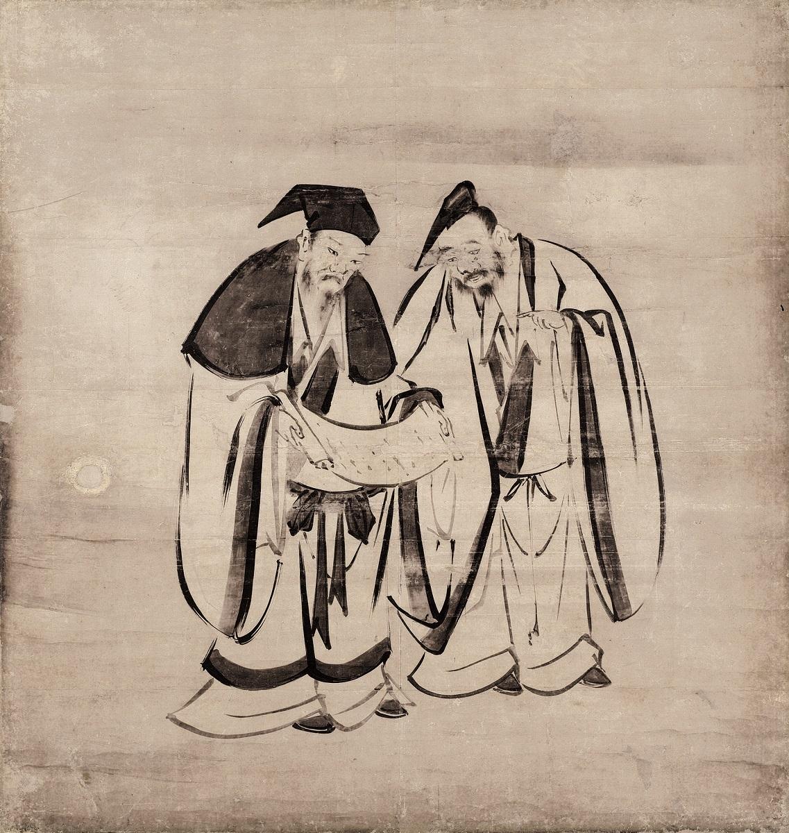 重要文化財 竹林七賢図(左隻) 海北友松筆 建仁寺(京都) 慶長4年(1599) 通期展示(ただしこの場面は前期展示、4/11~4/30)