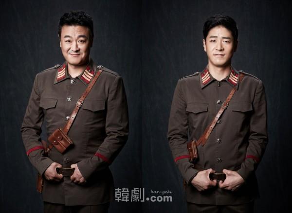 オ・ギョンピル役のチェ・ミョンギョン(左)とホン・ウジン