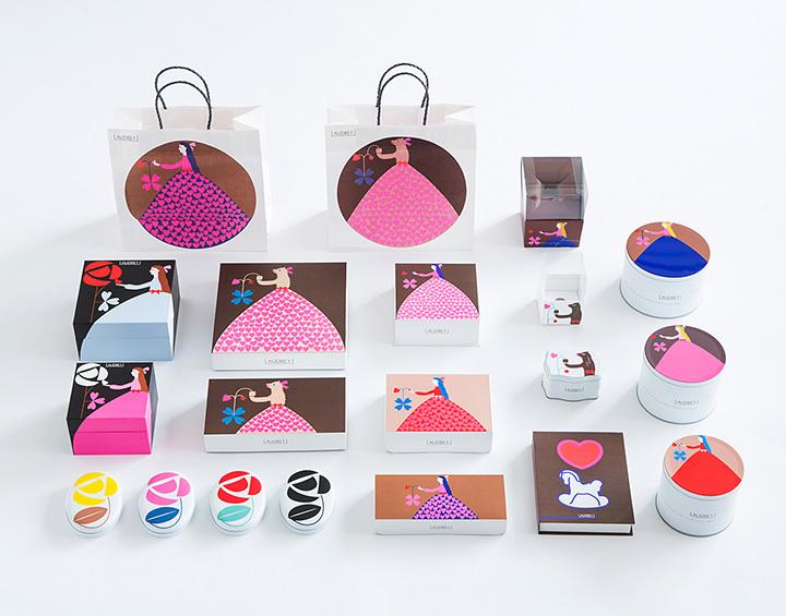 渡邉良重 洋菓子のパッケージデザイン「AUDREY」