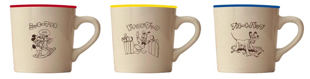 復刻絵本マグカップ 各 ¥1,296(全 3 種)