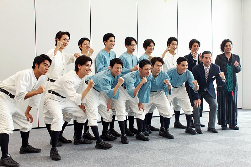 舞台「野球」飛行機雲のホームラン 記者会見(選手宣誓)