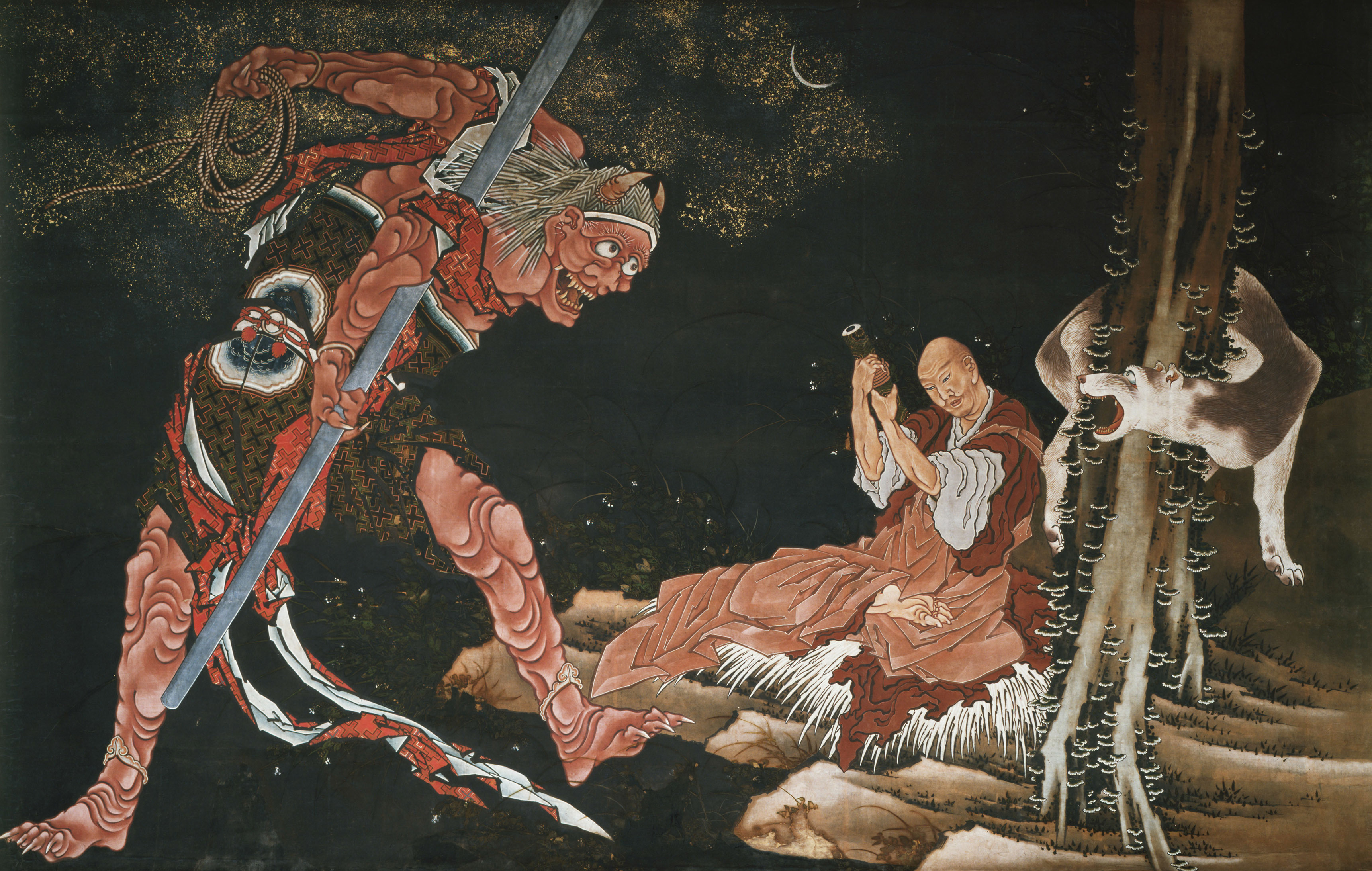 葛飾北斎《弘法大師修法図》紙本1幅 弘化年間(1844-47) 西新井大師總持寺  通期展示