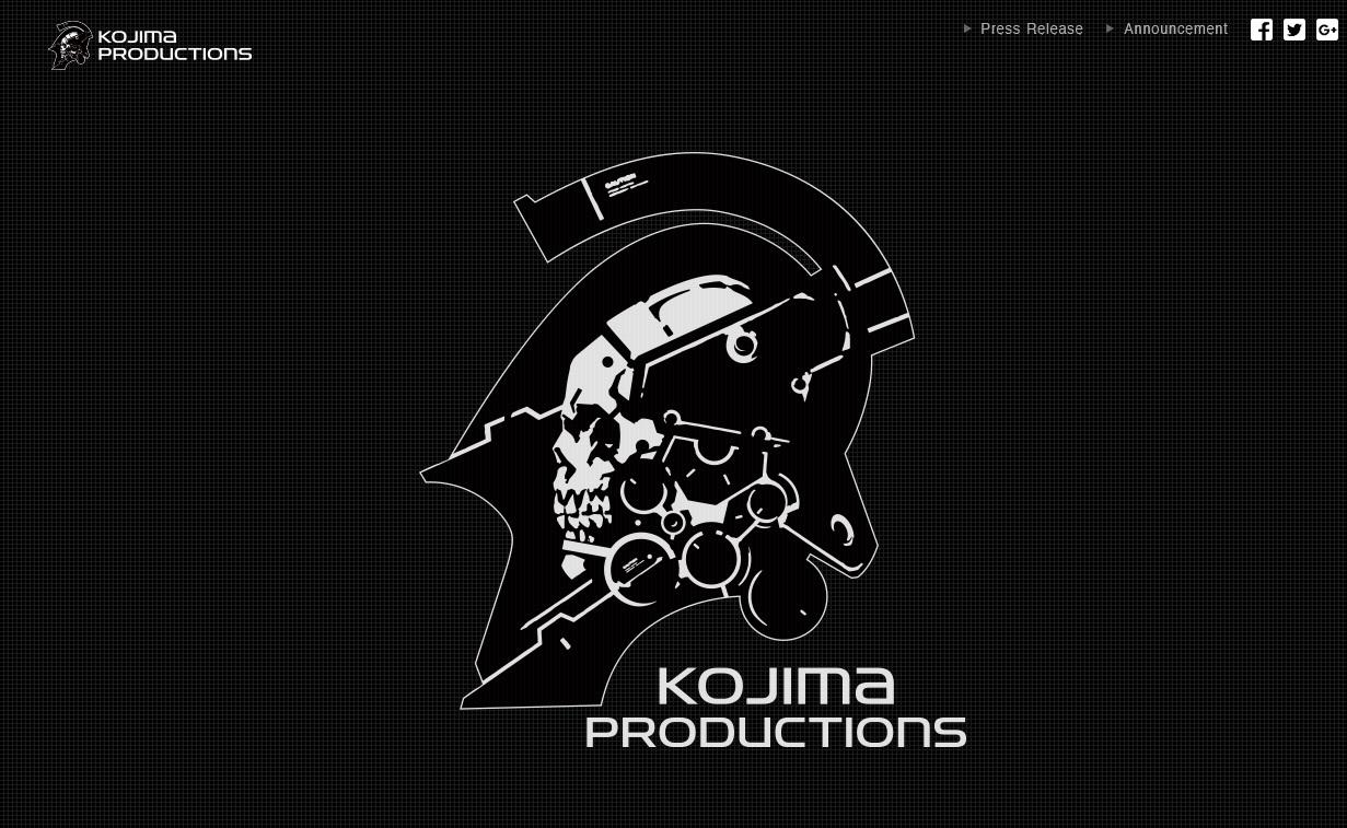 KOJIMA PRODUCTIONS公式サイトよりキャプチャー引用