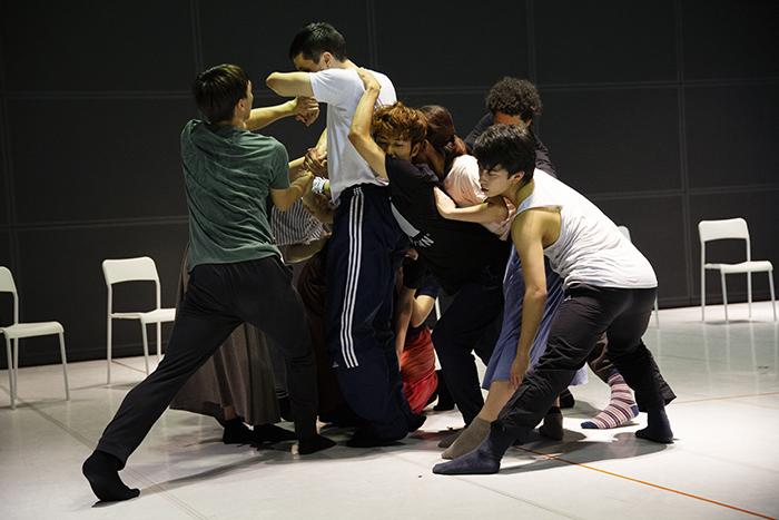 Noism1『Das Zimmer』リハーサル Photo: Ryu Endo