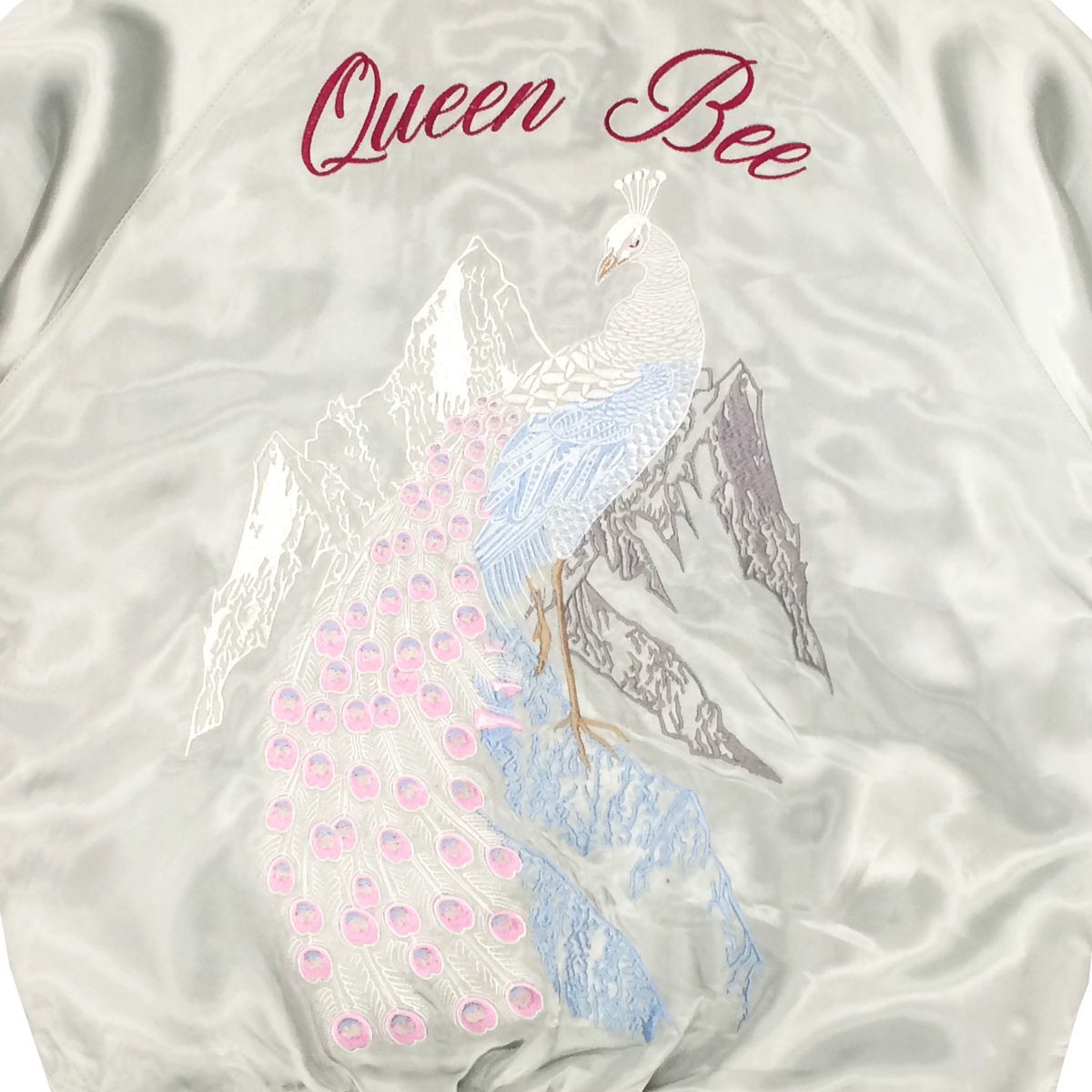 女王蜂オリジナルスカジャン「氷山孔雀」