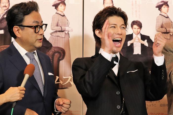 三谷さんと佐藤さんのやり取りに柿澤さん大爆笑!