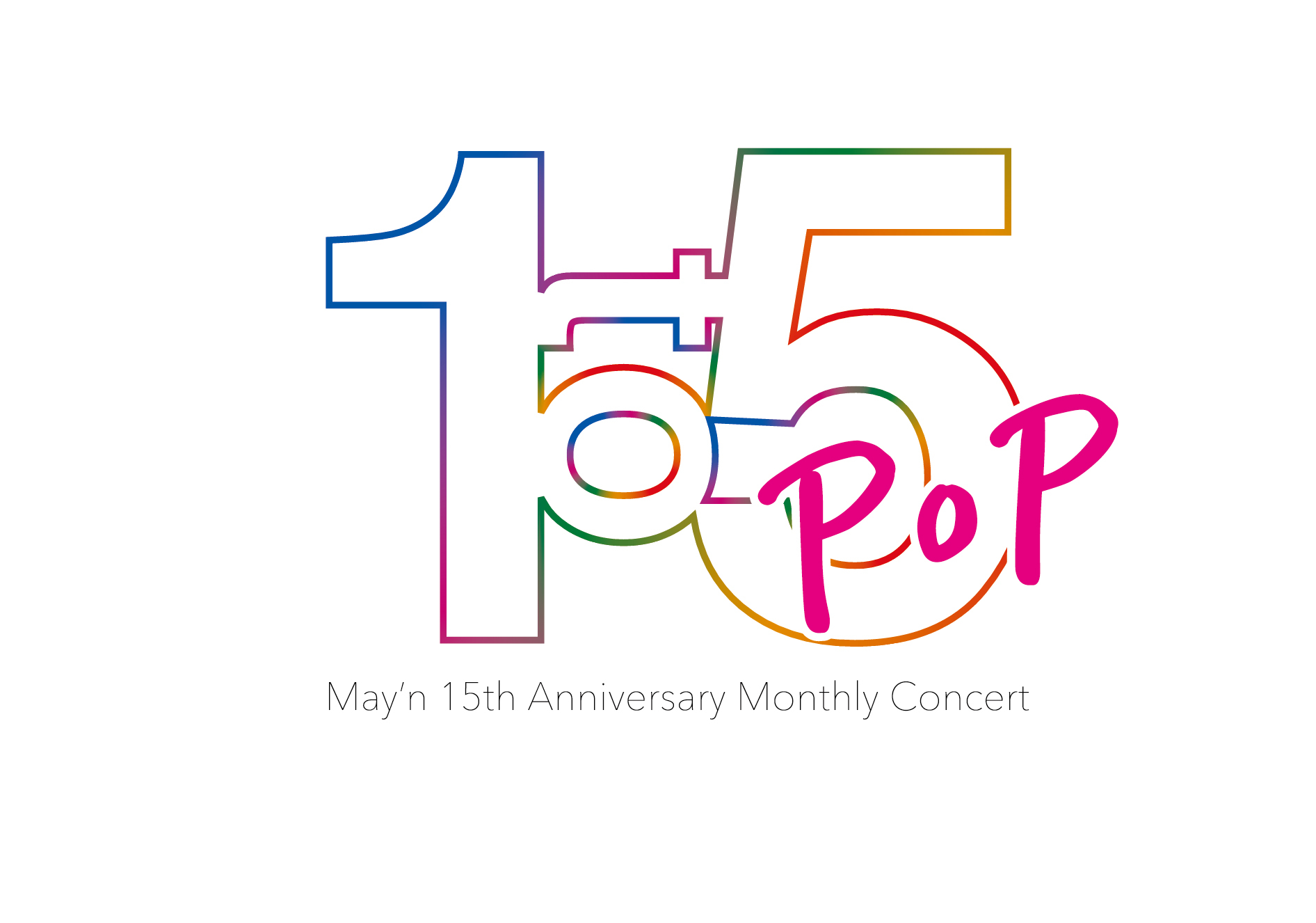 『May'n 15th Anniversary Monthly Concert 「1 to 5」』ロゴ