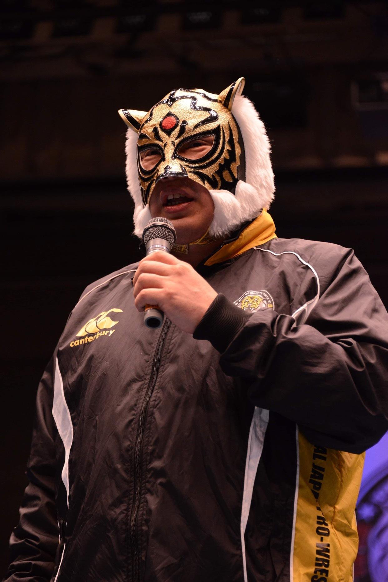 当日は初代タイガーマスク・佐山サトル氏も来場